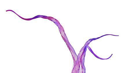 Wireframe Tree Branches-Purple Banco de Imagens