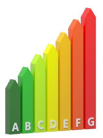 energy rating: Energy Rating Chart Vertical Stock Photo
