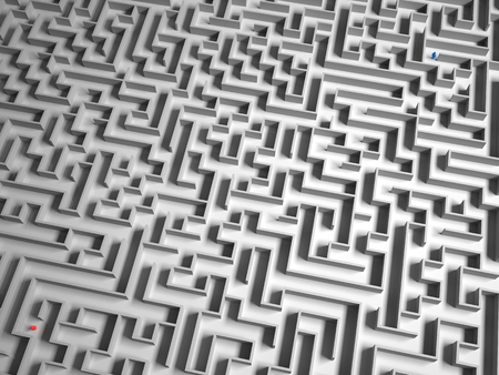 problematic: 3D maze with 2 people lost.