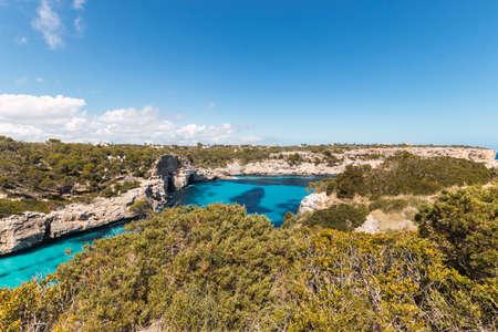 calo de moro, views from above. mallorca, spain