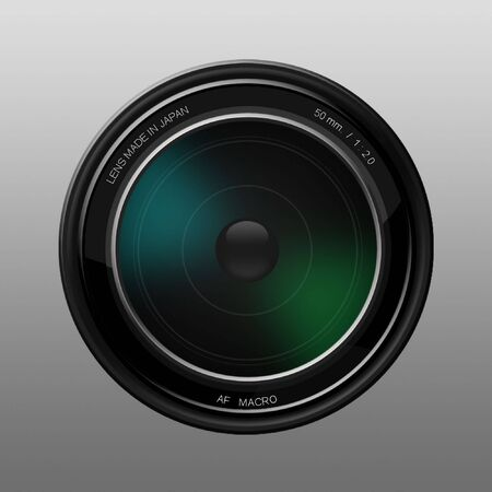 photoshop: A camera lens illustration made in Photoshop-.
