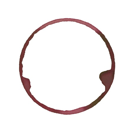 red wine stain: Wine stain made from wineglass