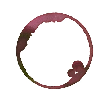 Wine stain made from wineglass Stock Photo - 17996686