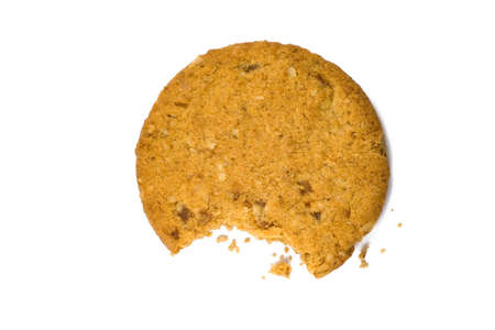 missing bite: topview of a bitten cookie Stock Photo