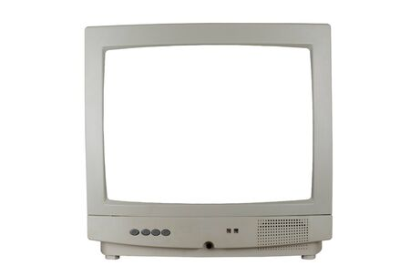 a TV isolated in a white background Stock Photo - 17996693