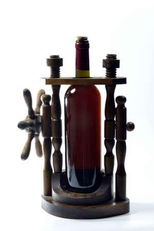 expositor: Botellero de madera