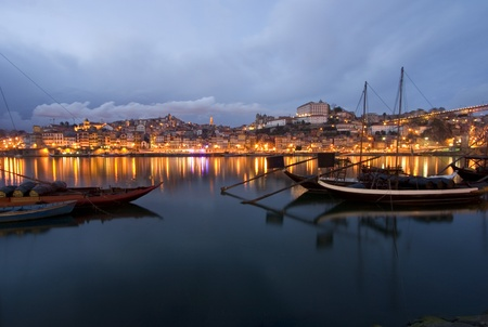 oporto: Oporto at night Stock Photo