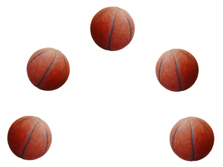 quintet: ball playing basketball