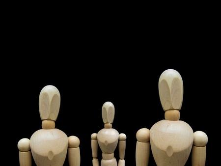clones: human figures, a social network Stock Photo