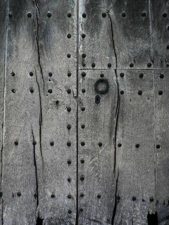 locks: old wooden door