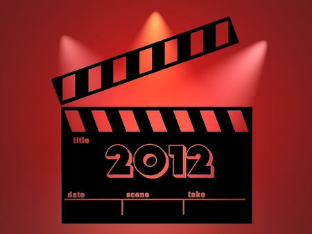 filmmaker: Clapperboard   2012 illustration Stock Photo
