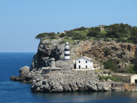 Lighthouse in a Port of S�ller Stock Photo - 11698223