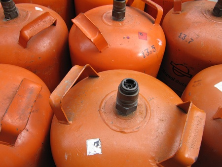 butane: Butane cylinders