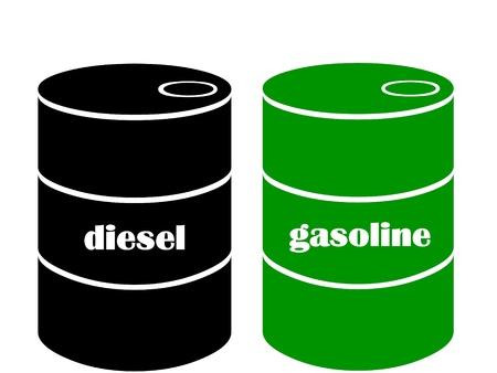 naphtha: gasoline or diesel barrel