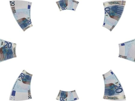 Framework of paper money photo