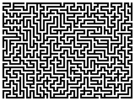 Labyrinth maze. Stock Photo