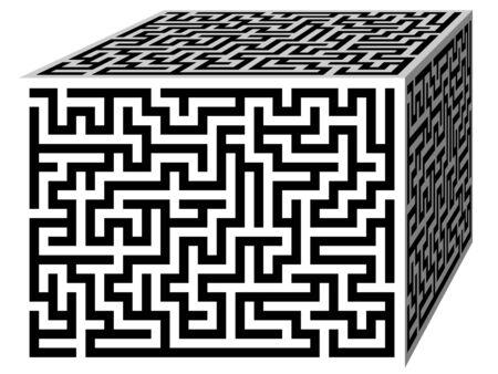 brain game: Labyrinth maze cube