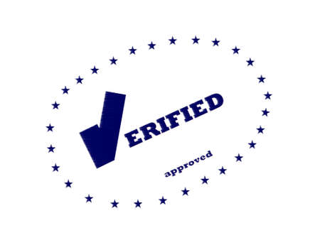 verified: Verified approved Stock Photo