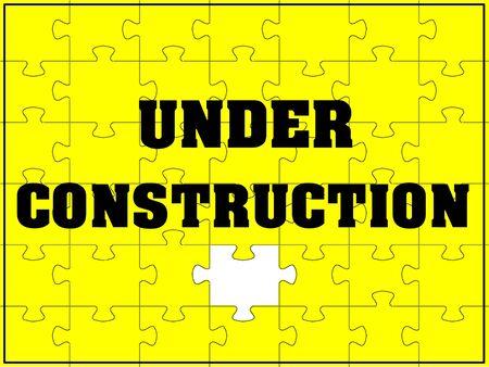 preparing: Under construction Stock Photo