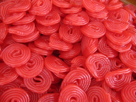 Red liquorice wheels