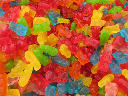 Gummy:  Candy bears,  jelly beans.