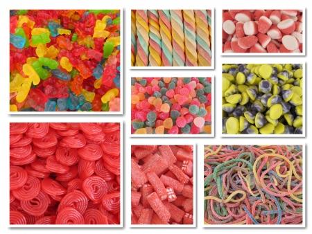 snoepjes: Candy collage Stockfoto
