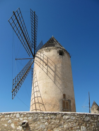Windmills in Mallorca, Spain. photo