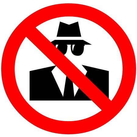Anti-spyware icon Stock Photo