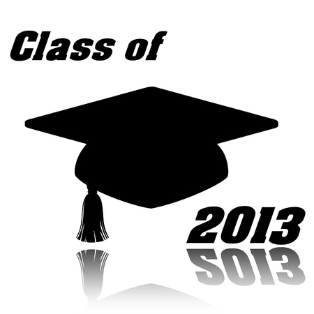 Class of 2013 graduation cap photo