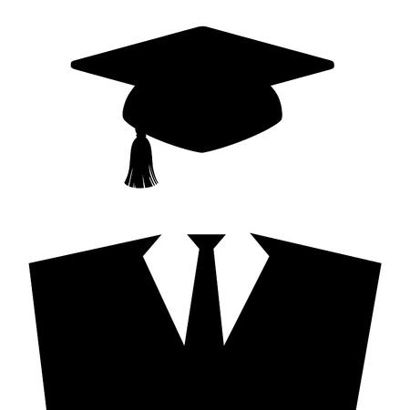 graduacion de universidad: Icono vestido de graduación
