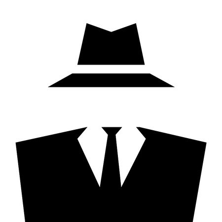 fedora hat: Anonymous Invisible Man icon  Stock Photo