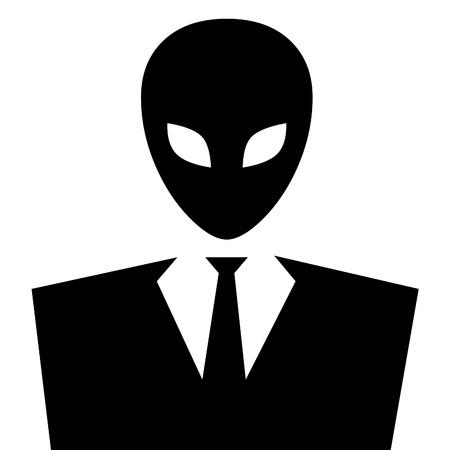 alien head: Avatar masked man or alien