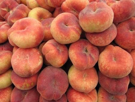 Saturn or donut peach.  Stock Photo