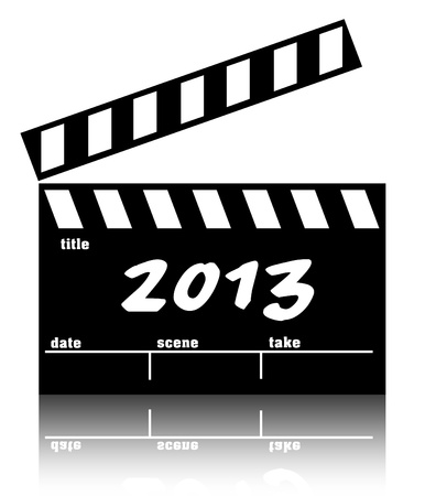 Clapperboard cinema or movies 2013 Stock Photo - 14559936