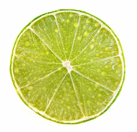 effervescent: Lima juice bubbles effervescent slice.