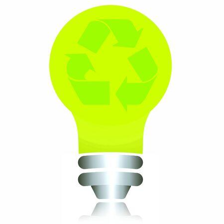 reciclable: Green bulbo reciclable ecol�gica. Foto de archivo