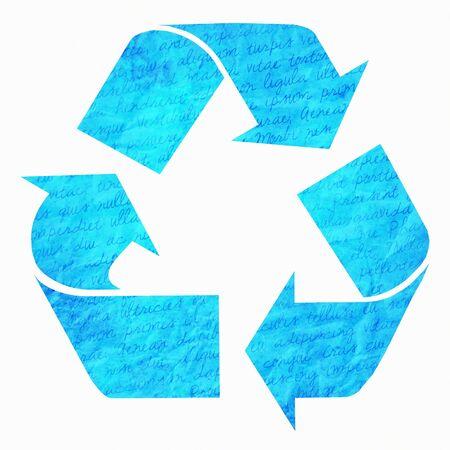 reciclable: Símbolo de reciclaje de papel