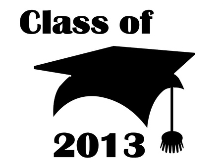 Class of 2013 mortarboard avatar. Stock Photo - 15644681