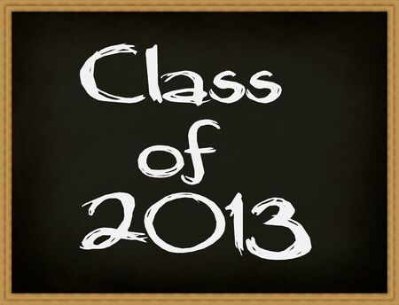 Class of 2013 chalkboard. photo