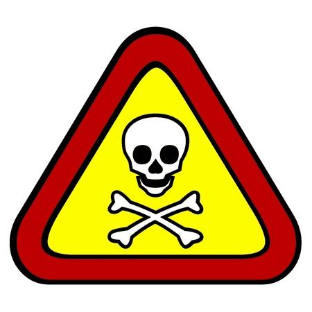 Signo tóxico y venenoso Foto de archivo