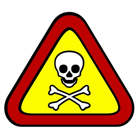 chemical hazard: Toxic and poisonous sign