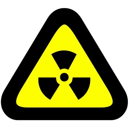 radiactividad: Advertencia de peligro de radioactividad signo. Foto de archivo