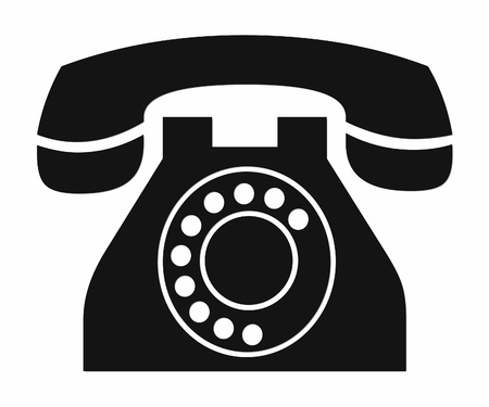 ancient telephone: Vintage phone clipart. Stock Photo
