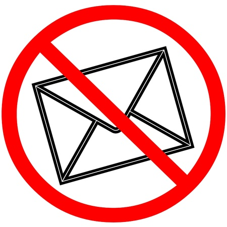 web scam: Email warning signal spam