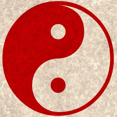 Yin and yang red smoke texture.  Stock Photo