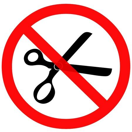 No cuts sign. Reklamní fotografie