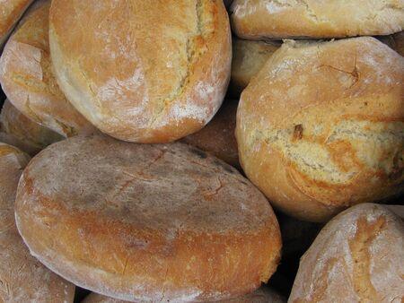 artisan bakery: Artisan bread stored in bakery