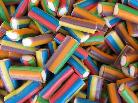 liquorice: Colored liquorice, confectionary.