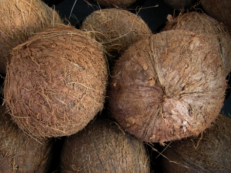 stored: Coconuts stored