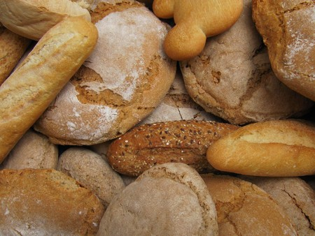 Different types and forms of bread